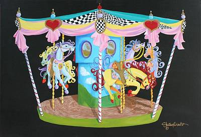 Carousel Horses Poster by Shelley Overton