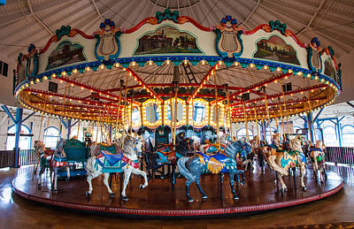 Poster featuring the photograph Carousel Ride by Jerry Cowart