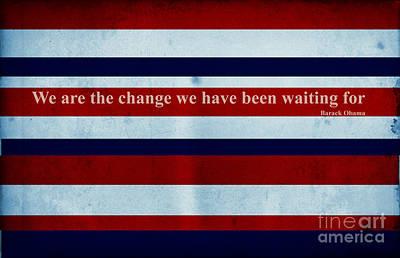 Carpe Diem Series - Barack Obama Poster by Andrea Anderegg