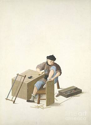 Carpenter, 19th-century China Poster by British Library