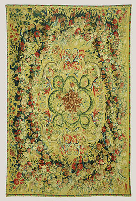Carpet Carpet Made At The Beauvais Manufactory Poster