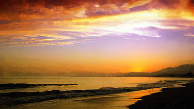 Carpinteria Sunset Poster by Ron Regalado
