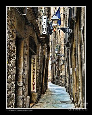 Carrer De Sant Domenec Del Call Poster