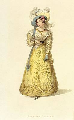Carriage Costume, Fashion Plate Poster