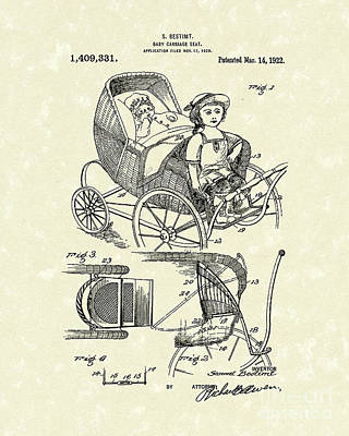 Carriage Seat 1922 Patent Art Poster