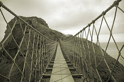 Carrick-a-rede Rope Bridge Poster by Betsy Knapp