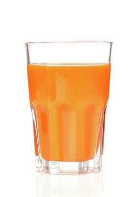 Carrot Juice In Glass Poster
