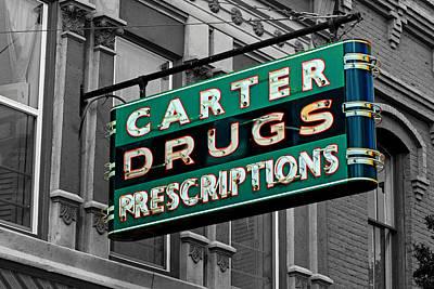 Carter Prescription Drugs Poster by Daniel Woodrum