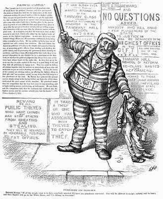 Cartoon Arrest Of Tweed Poster by Granger