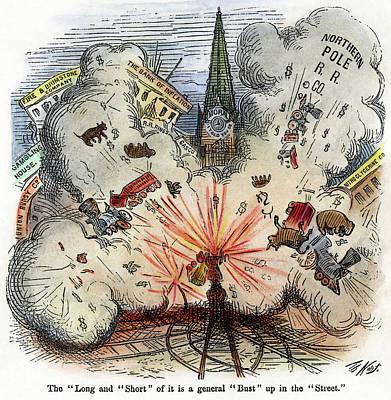 Cartoon Bank Panic, 1873 Poster by Granger