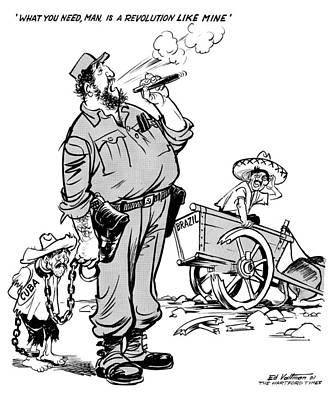 Cartoon Castro, 1961 Poster