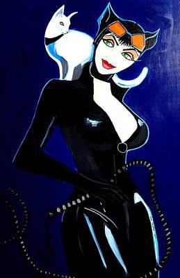 Comic Cat Woman Poster