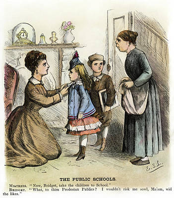 Cartoon Irish Immigrants, 1873 Poster