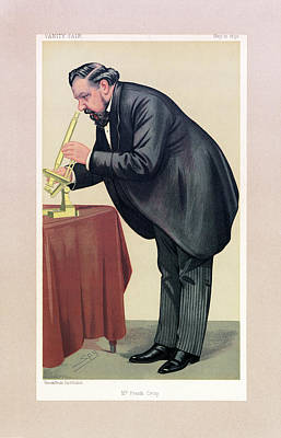 Cartoon Of Frank Crisp Poster by Museum Of The History Of Science/oxford University Images