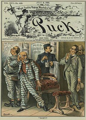 Cartoon Prison Barber Shop Poster by Granger