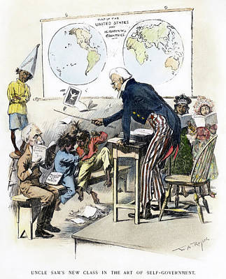 Cartoon Spanish-american War, 1898 Poster by Granger