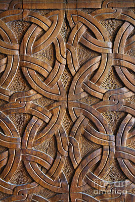 Carved Wooden Door In The Tsminda Sameba Cathedral Tbilisi Poster