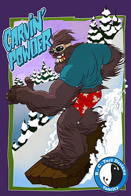 Carvin' Powder Poster by Nelson Dedos Garcia
