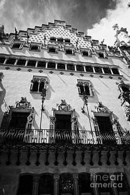 casa amatller modernisme style building in Barcelona Catalonia Spain Poster