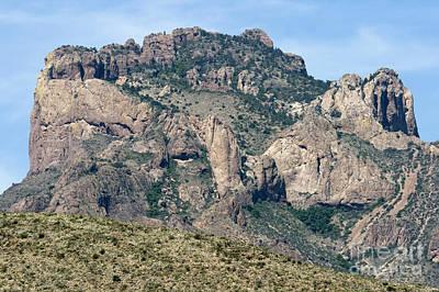 Casa Grande Mountain In Big Bend Poster