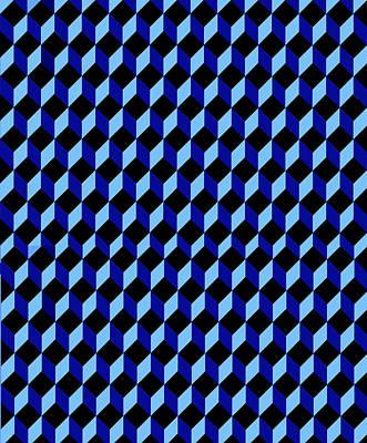 Casale Di San Basilio Mosaic Rome Blue And Black Poster by Asbjorn Lonvig