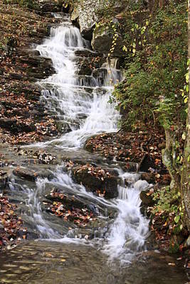 Cascade At High Falls Creek Near Mount Cheaha Alabama Poster by Mountains to the Sea Photo