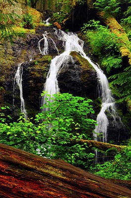 Cascade Falls, Moran State Park, Orcas Poster by Michel Hersen