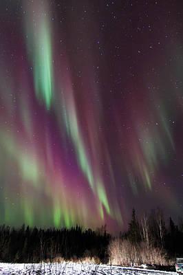 Cascading Aurora Poster