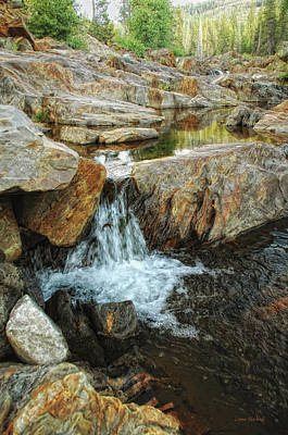 Cascading Downward Poster by Donna Blackhall