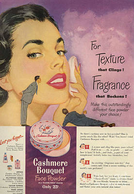 Cashmere Bouquet 1950 1950s Usa Makeup Poster by The Advertising Archives