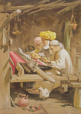 Cashmere Shawls Weaving, 1863 Poster
