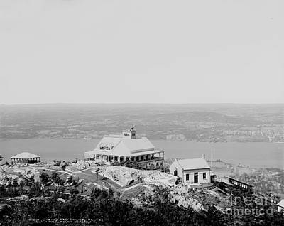 Casino At The Top Of Mt Beacon In Black And White Poster