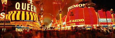 Casino Lit Up At Night, Fremont Street Poster