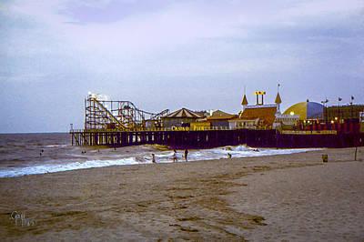 Poster featuring the photograph Casino Pier Boardwalk - Seaside Heights Nj by Glenn Feron