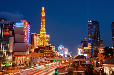 Casinos Along The Las Vegas Boulevard Poster by Panoramic Images