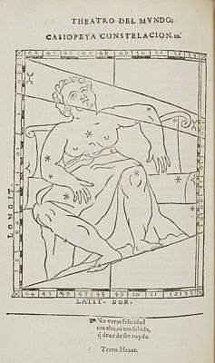 Casiopeya Star Constellation Poster by British Library