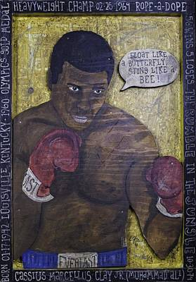 Poster featuring the painting Cassius Clay - Muhammad Ali by Eric Cunningham