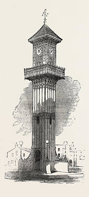 Cast Iron Clock-tower For Geelong 1854 Poster by English School