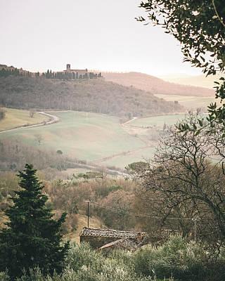 Castelmuzio Sunset Poster