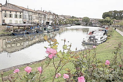 Castelnaudary At The Canal Du Midi Poster by Heiko Koehrer-Wagner