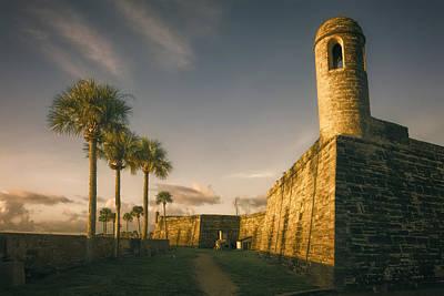 Castillo De San Marcos Dawn Poster by Joan Carroll