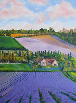 Castle Farm Shoreham Kent Lavender Fields England Poster by Lisa Boyd