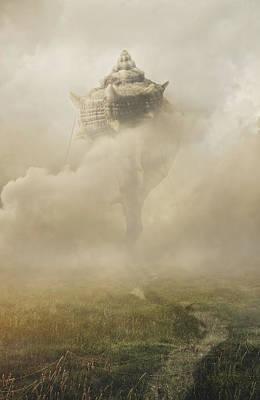 Castle In The Sky Poster by Jaroslaw Blaminsky