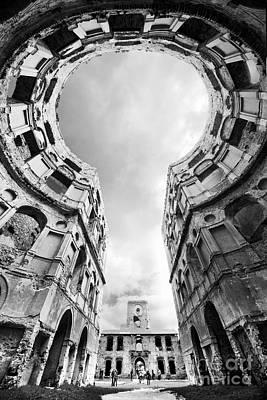 Castle Keyhole In Black And White Poster by Jaroslaw Blaminsky