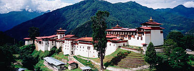 Castle On A Mountain, Trongsar Dzong Poster by Panoramic Images