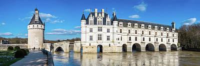 Castle Over A River, Chateau De Poster