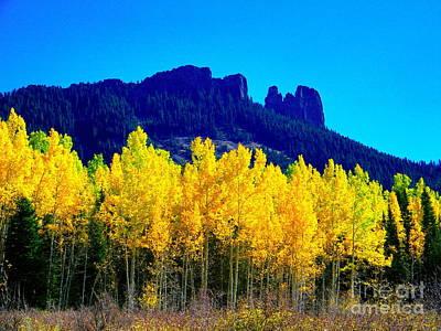 Autumn Castle Rock Aspens Poster