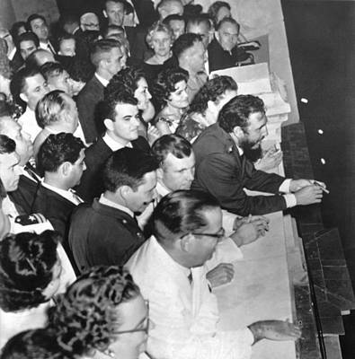 Castro Honors Yuri Gagarin Poster