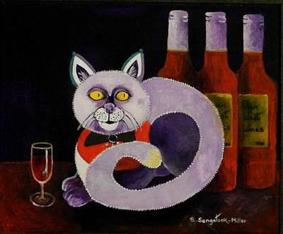Cat-alcoholic Bar Cat Poster by Sandra Sengstock-Miller