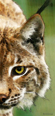 Cat Art - Lynx 2 Poster by Sharon Cummings